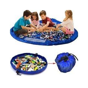 Organizador Saco De Brinquedos Vira Bolsa Lego Tapete 150 Cm