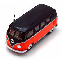 1962 Volkswagen Autobús Clásico, Orange - Kinsmart 5376d -