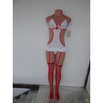 Disfraz Sexy De Enfermera Doctora Talla S M L