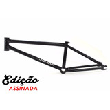 Quadro Master Bikes Bmx 3 Andar 21 Preto Cromo 12x S/ Juros