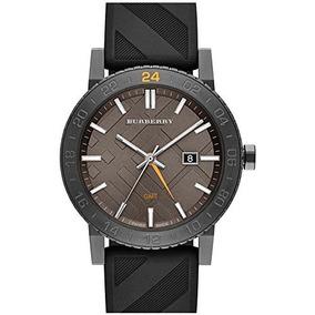 Burberry Reloj New City Gmt Unisex - Gris Acero Inoxidable
