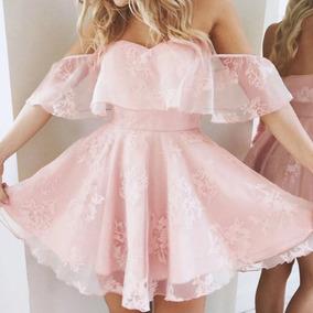 Vestido Noiva Curto Rosa Importado Pronta Entrega Envio Já