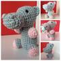 Souvenirs Amigurumis Hipopótamo 10 Cm. Crochet Amigurumi