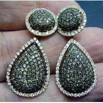 Brinco Lindissimo Em Ouro Rosê E Diamantes Naturais !!!