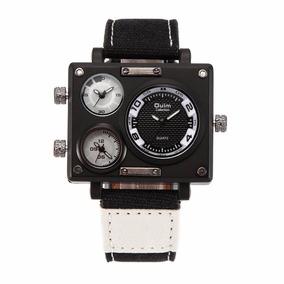 Oulm Reloj Luxury Militar 3 Caras Horarios Envio Gratis