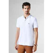 Polo Cont. Piquet Flame Mc Reserva - Color Branco