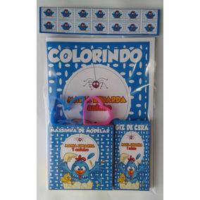 Kit Colorir + Kit Massinha 2 Moldes Galinha Pintadinha
