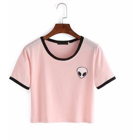 Blusa Camiseta Cropped Et