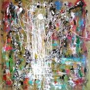 Cuadro Pintura Arte Moderno Acrílicos Sobre Lienzo
