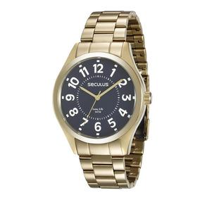 a55255f7a7e Relogios Masculinos Seculus Dourados - Relógio Seculus Masculino no ...