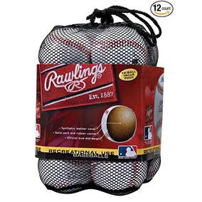 Rawlings Liga Oficial Uso Recreativo Pelotas De Béisbol (paq