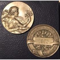 Medalla Y Plaquetas Sociedad Rural Argentina Centenario 1910
