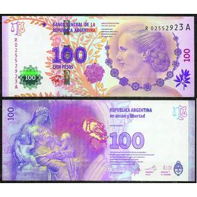 Argentina Billete 100 Pesos Evita Reposición R 02552923 A