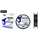 Linha Multifilamento J-braid X4 Daiwa 0,25mm 30lb 135m Verde