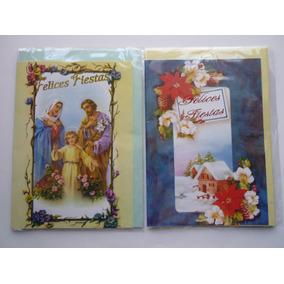 Tarjetas Candy Navideñas - Lote De 10. Navidad No Musicales
