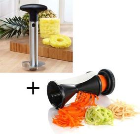 Cortador De Vegetais Legumes + Descascador Fatiador Abacaxi