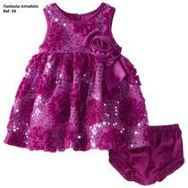 Vestido De Niña Fantasía Amatista Talla 2 A 10 By Pacalyta