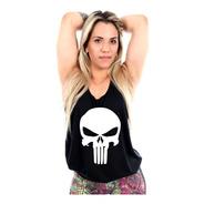 Regata Cavada O Justiceiro Fitness Feminina
