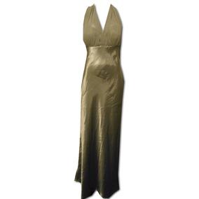 Vestido David´s Bridal Talla 8 Satinado Verde 7yt