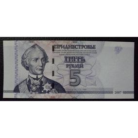 Transnistria Billete 5 Rublos Unc 2007 Pick 43