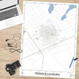 Mapa Ciudad De Trenque Lauquen 61cmx45cm