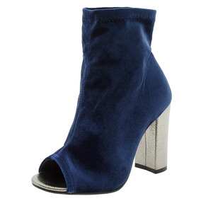 Bota Feminina Ankle Boot Marinho Via Marte - 173401