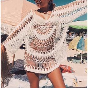 Vestido Saida Praia Piscina Todo Rendado Tamanho M