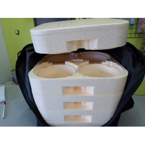Bolsa Mochila De 20 Marmitex Com 5 Bandejas N8 Ótima