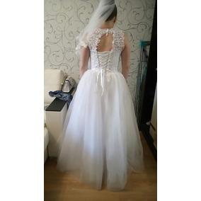 Aluguel De Vestido De Noiva Importado Princesa Trançado