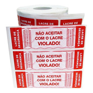Etiqueta Lacre Pizza Ifood Delivery 104x35 Kit 5.000un Verm