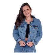 Jaqueta Jeans Feminina Revanche Dulce Azul