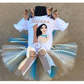 Conjunto Fantasia Saia Tutu Luxo Pocahontas