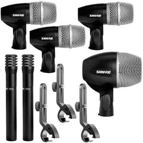 Kit Microfones Shure Para Bateria Pgd Mk6 Com Maleta Shure