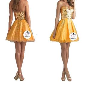 Sexy Vestido Dorado Mini Moda Coreana Mod. R009