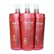 Kit Agi Max Red Kera-x 3x1000ml + Original