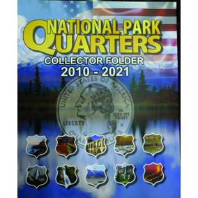 Álbum Moeda Eua Park Quarter Dollar 2010 A 2021 0,25 Cent.