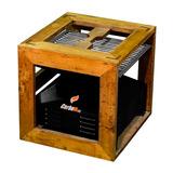 Asador Carboneat De Carbón Con Caja Madera C40