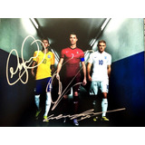 Autógrafo Original : 3 Feras Neymar - Cr7 - Wayne Rooney