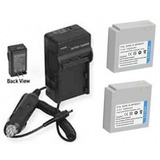 2 Batteries + Charger For Samsung Smx-f33ln, Samsung Smx-f33