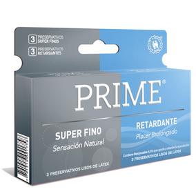 Preservativos Prime Super Fino Y Retardante X144 Unidades