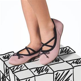 Sapatilha Infantil Menina Bibi Socks Rosa E Preto Original