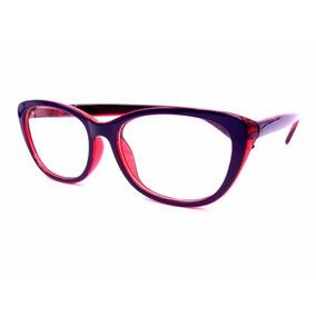 Armação De Óculos Gatinha Feminina Lente Transparente Xf8815