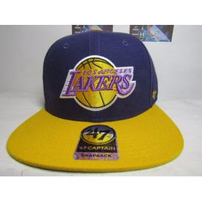 Gorra Lakers 47 Captain Oficial Hwc Circuit Snapback
