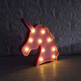 Luminaria Abajur Unicornio Luz Led Parede Mesa Parede Infant