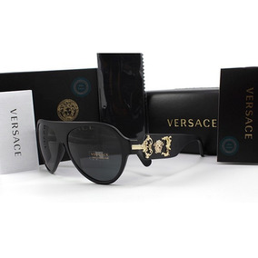 Lentes Versace Aviator Ve4323 507971 Sand Black / Grey Green