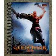 God Of War - Caderno 200 Folhas Game