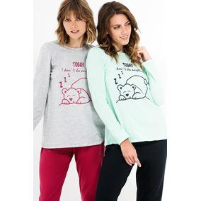 Pijama Mujer Estampado Algodón Dolcisima 959l