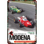 Carteles Antiguos Chapa 60x40cm Gran Premio Modena Au-492