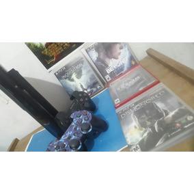 Playstation 3 Super Slime 500gb + 4 Juegos + 2 Joystics