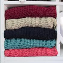 Sweater Buzos Tejidos Largo Calados De Hilo Talles Grandes